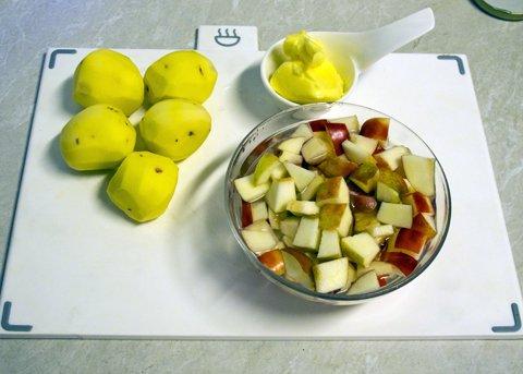 Gulløye med epler, og torsk