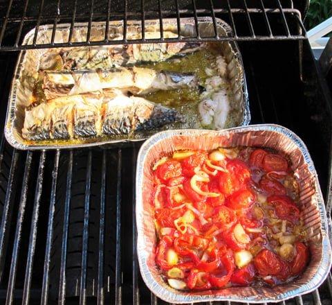 Grillet makrell i grillen2