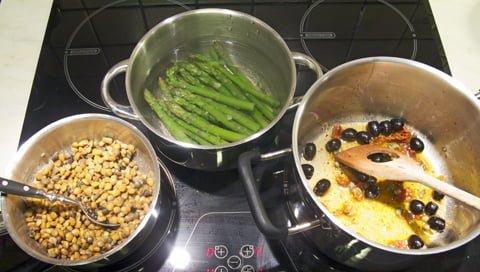 Klippfisk med linser, koker