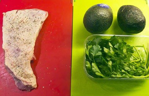 Kalveculotte med avocado