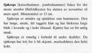 Sjøkreps info