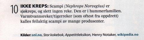 Scampi; Mat fra Norge
