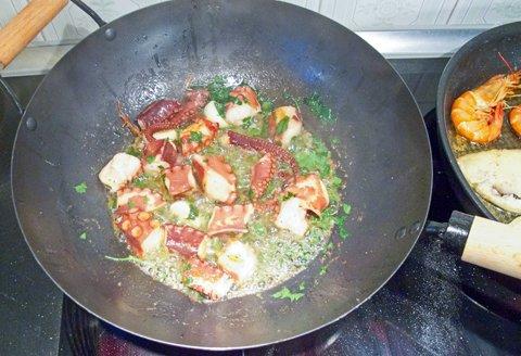 Calamare, kokt stekes