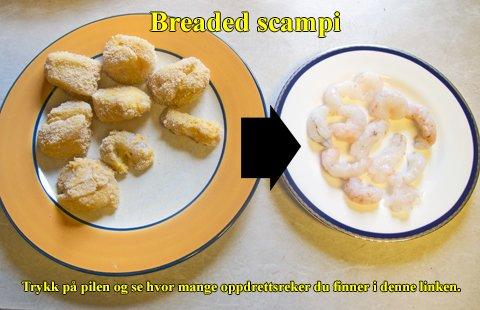 Breaded scampi