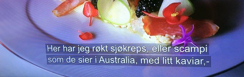 Scampi i Nyhetsettermiddag i NRK!