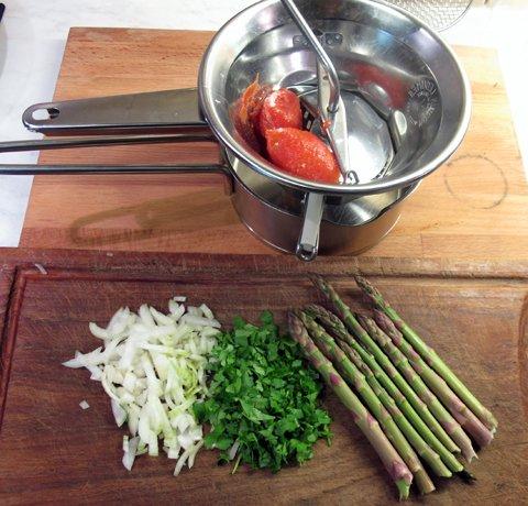 Bavette nr 13 med asparges