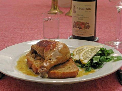 Pollo Marengo servert