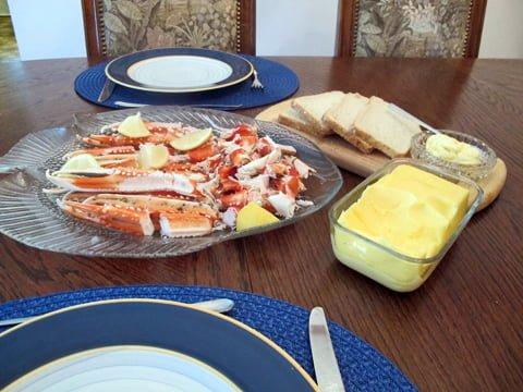 Scampi, klør med majones